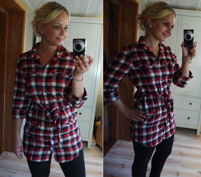 Avslutar dagen med en bild på min nya skjorta från Gina Tricot. I like it.  I like it A LOT! efd02be478cb7